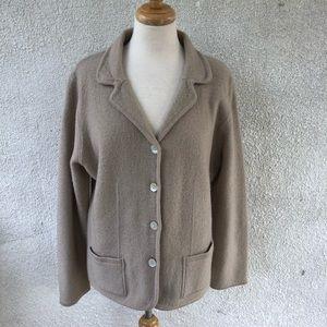 Croft & Barrow L BEIGE 100% Wool Jacket Coat